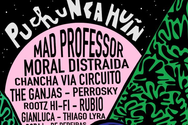 Afiche oficial con el lineup del festival Puchuncahuín 2018.