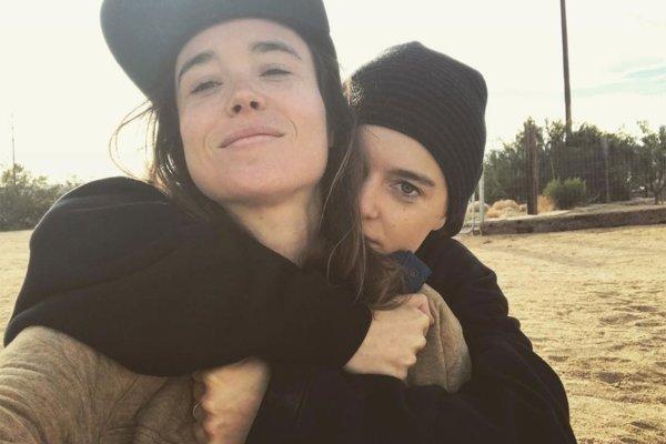Ellen Page y Emma Portner. Fotografía: Instagram