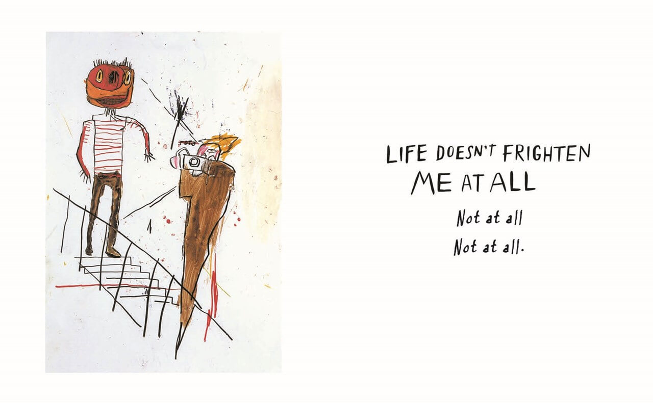 """Life Doesn't Frighten Me"", de Maya Angelou, con ilustraciones de Jean-Michel Basquiat. Imagen: Abrams Books"