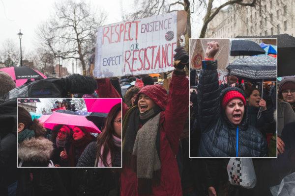 Women's March 2018. Fotografía: Theo McInnes/Huck