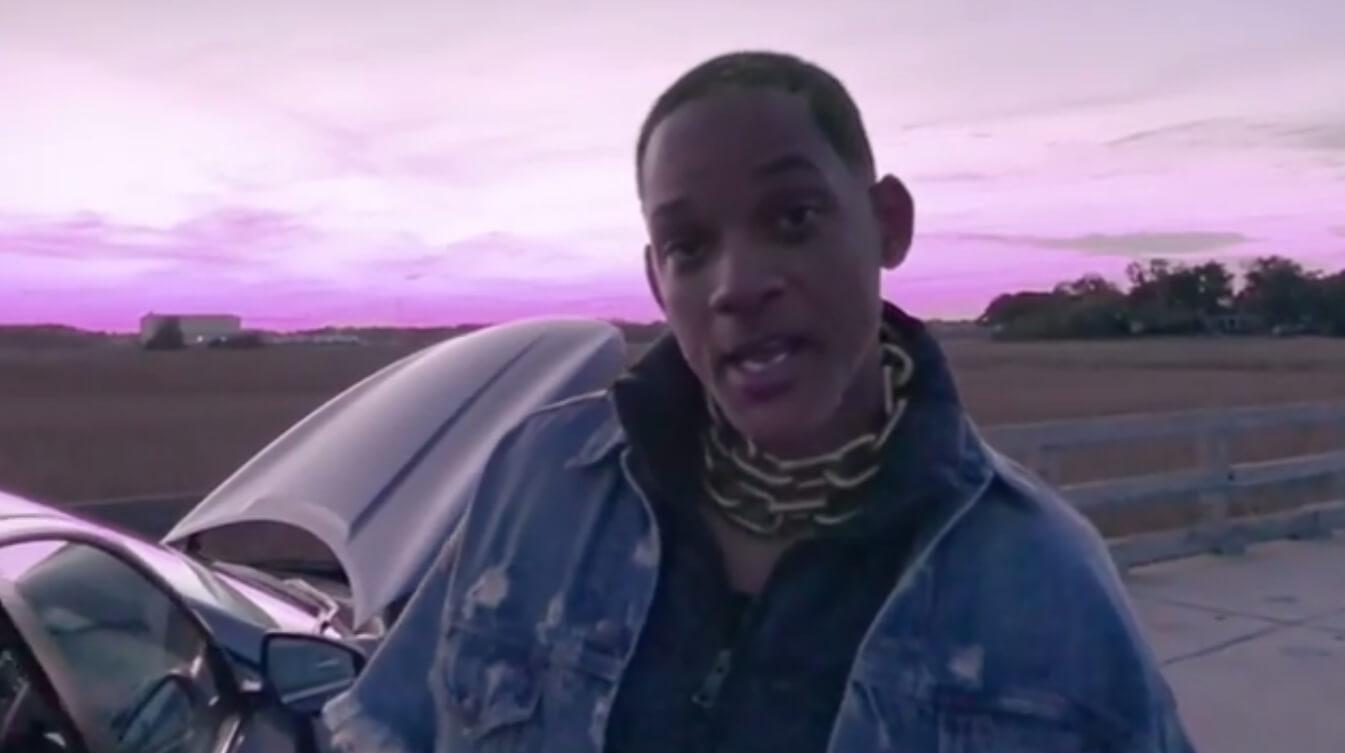 """Will Smith recreó el video """"Icon"""" de Jaden Smith y es el trolleo más salvaje que verás hoy"""