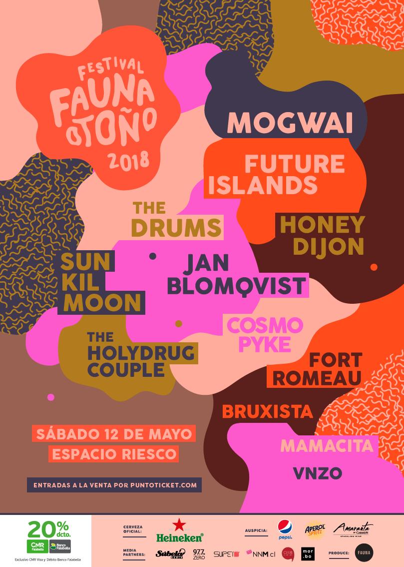 Afiche final festival Otoño Fauna 2018. Imagen: Fauna Producciones