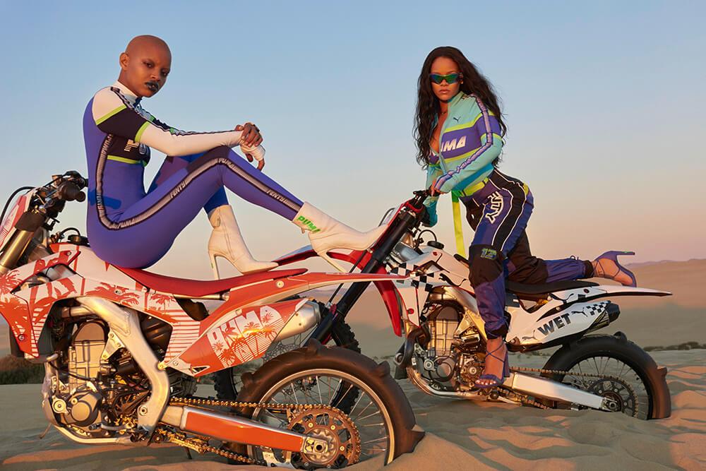 Rihanna estrena la colección S/S 2018 de FENTY PUMA con hype, motocicletas voladoras y adrenalina