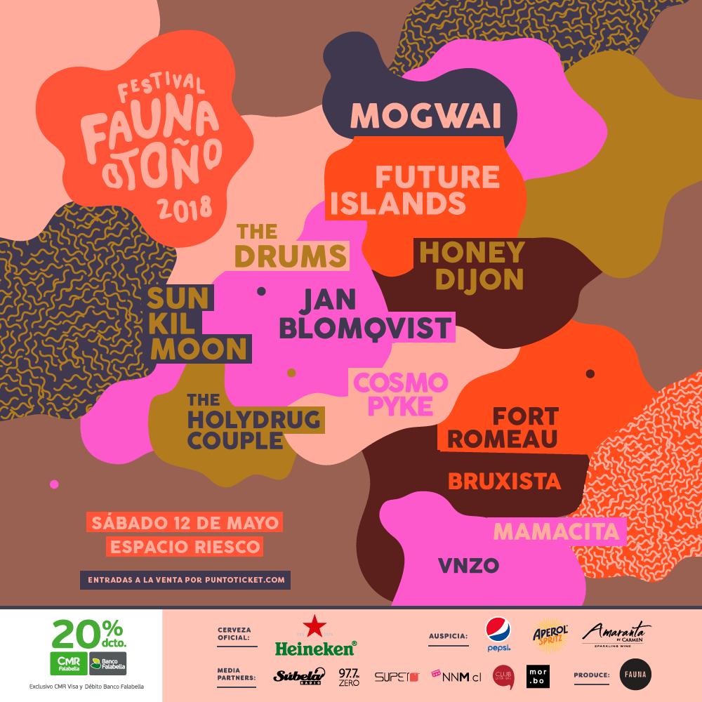 Revelado el lineup completo del #FaunaOtoño: Mogwai, Future Islands, The Drums y más