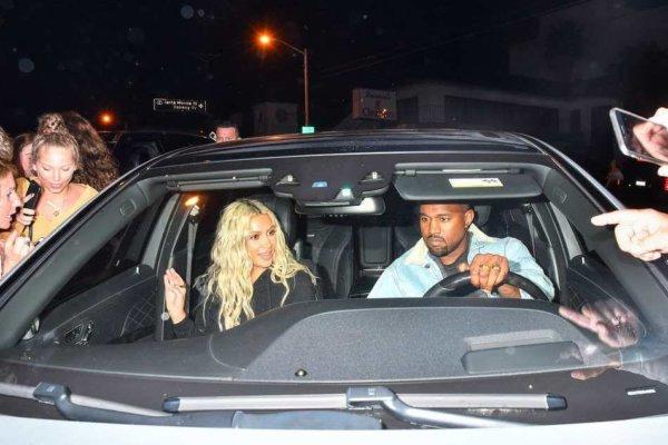 Kim Kardashian y Kanye West. Fotografía: Zimbio