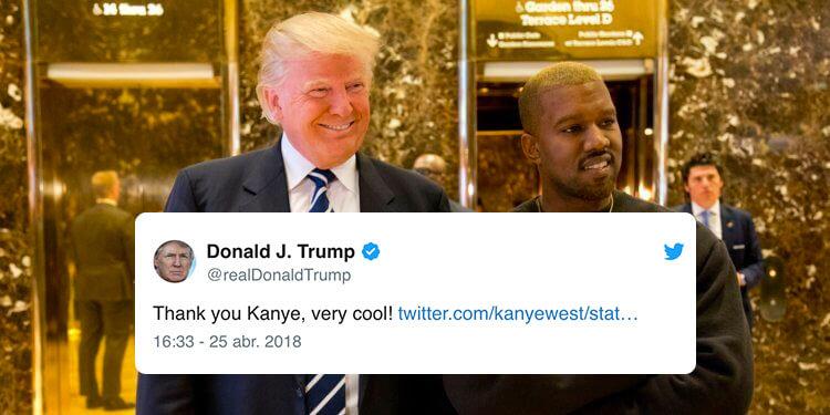 El bromance de Kanye West y Donald Trump sigue vivo en Twitter como un herpes que nunca desaparece