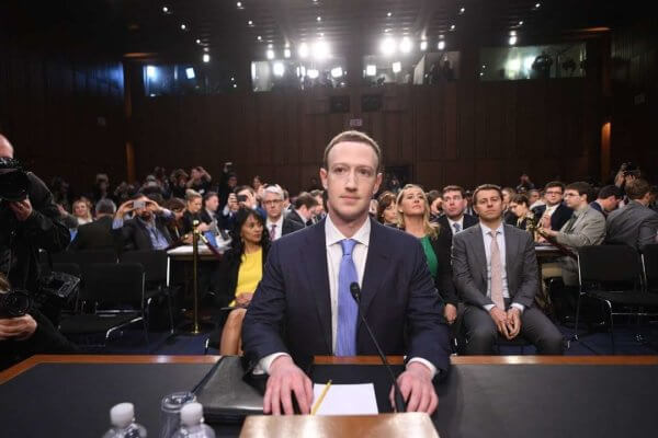 Zuckerberg en el Congresod e los estados Unidos esta tarde. Fotogrfaía: Washington Post