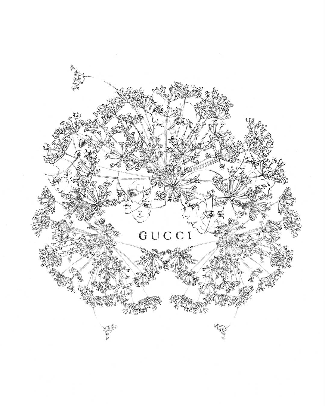 Gucci Bloom Acqua di Fiori. Ilustración: Langley Fox