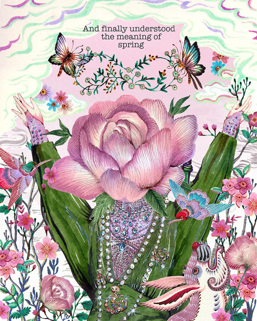 Gucci Bloom Acqua di Fiori. Ilustración: Phanna Past