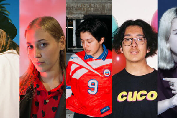 Clairo / Hatchie / Boy Pablo / Cuco / Snail Mail. Fotografía: Clash/ Pigeons and Planes / Press / Press / Press
