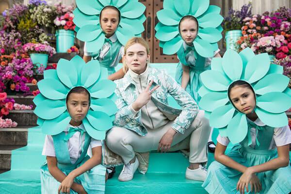 Elle Fanning en la campaña nueva de Tiffany's.