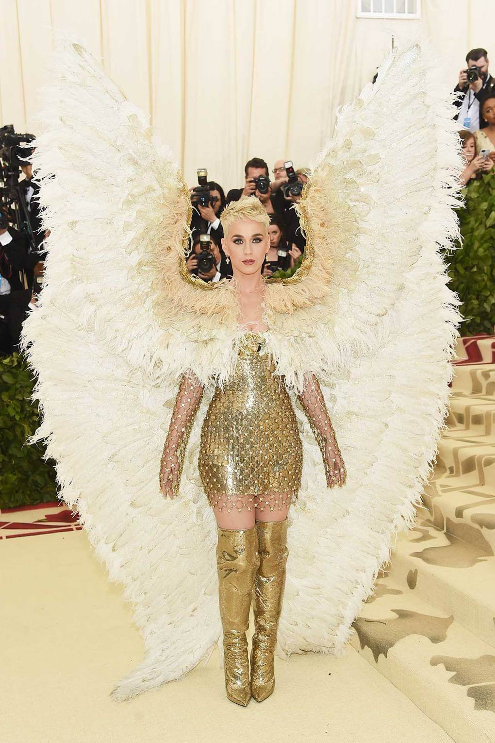 Katy Perry en la Met Gala 2018. Fotografía: Getty