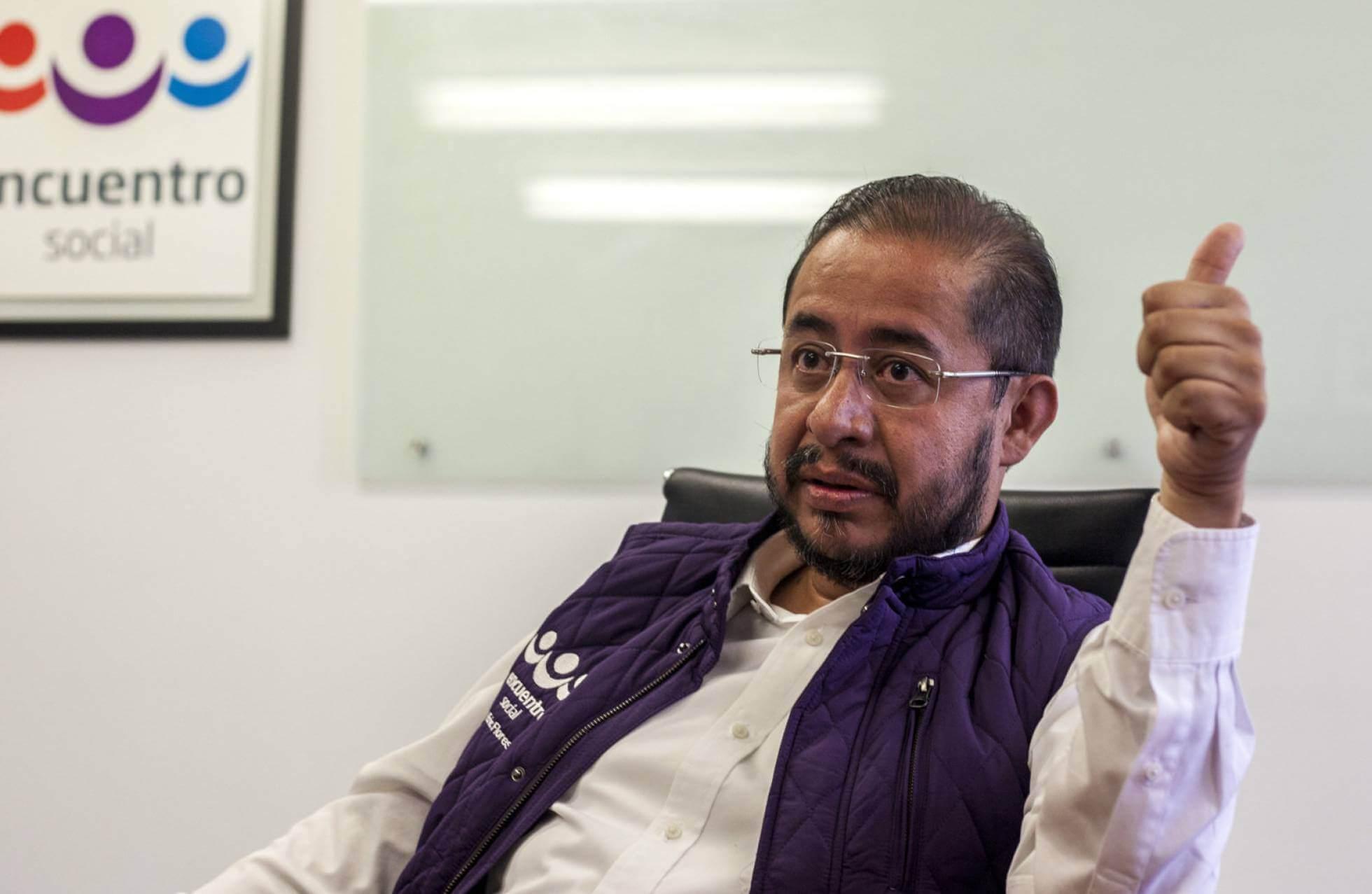 Hugo Eric Flores, presidente del PES. Fotografía: Mónica González/El País