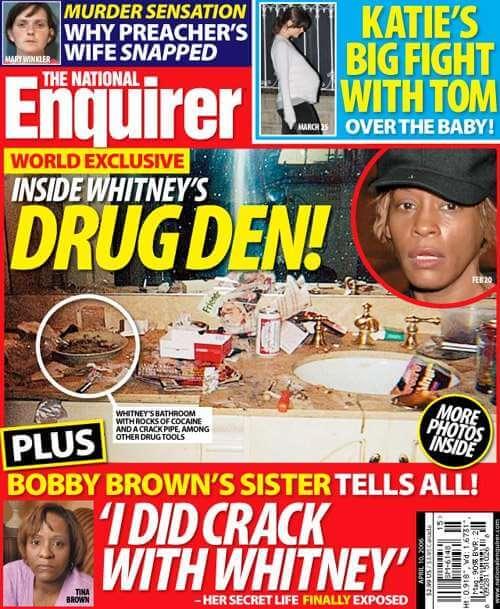 Portada del tabloide National Enquirer con la polémica imagen.