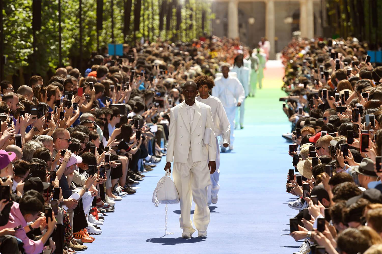Virgil Abloh x Louis Vuitton S/S 2019. Imagen: Getty