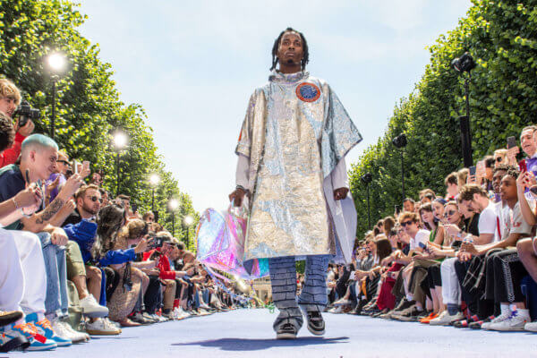 Virgil Abloh x Louis Vuitton S/S 2019. Imagen: Getty