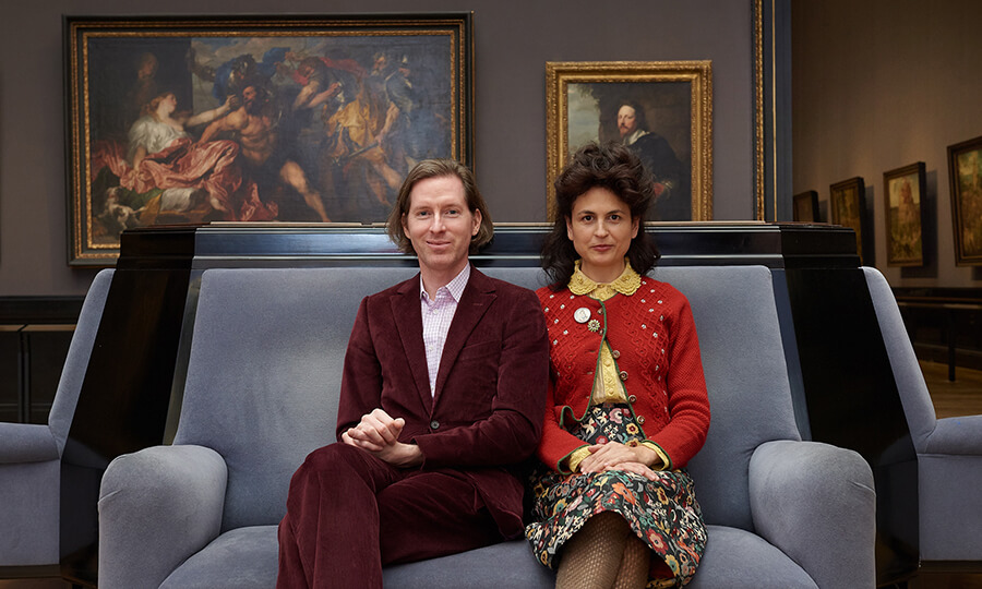 Wes Anderson y Juman Malouf. Fotografía: Kunsthistorisches Museum/© KHM-Museumsverband