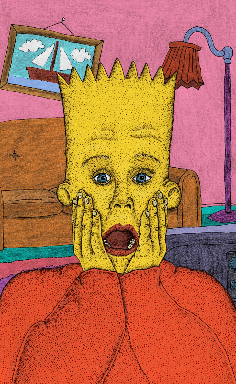 """""""Bart Simpson"""". Ilustración: Jim Nauseum/James McCullen"""