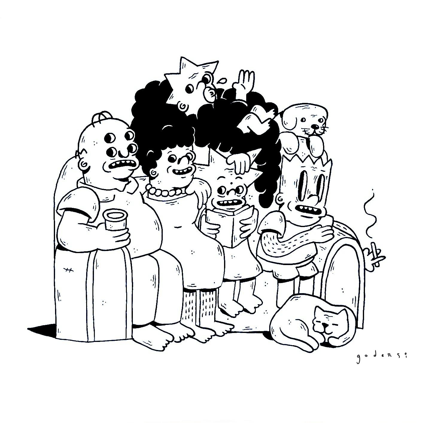 Godersi, el ilustrador chileno que crea mutantes, humor negro y cultura pop para zombies