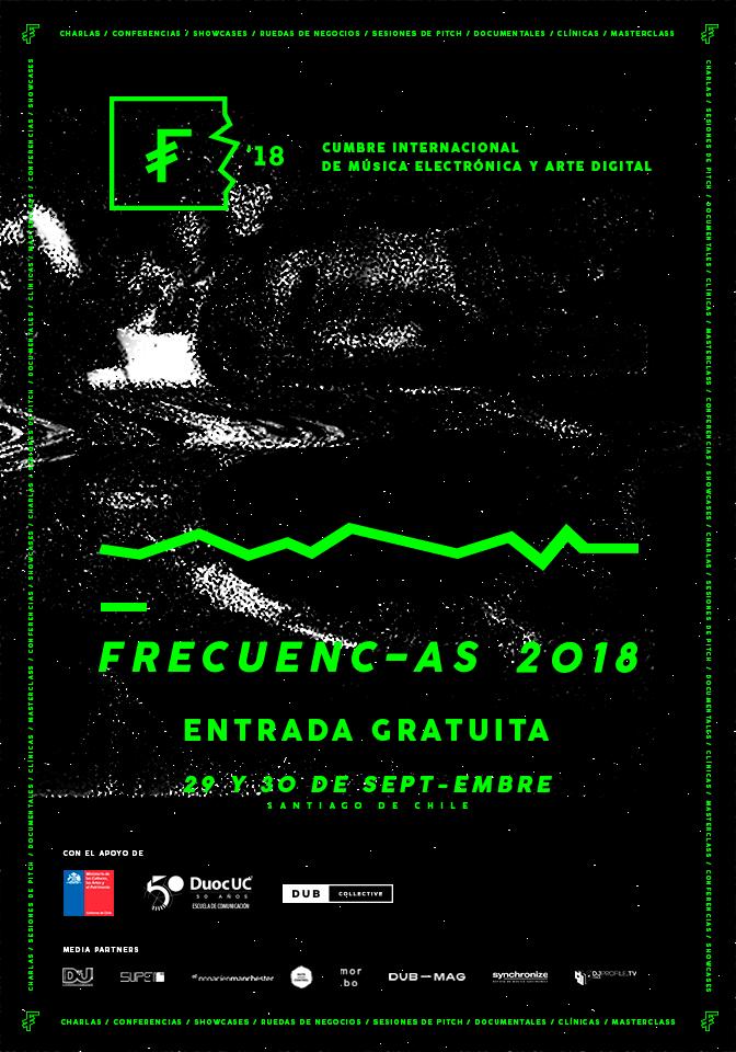Afiche oficial de Frecuencias 2018.