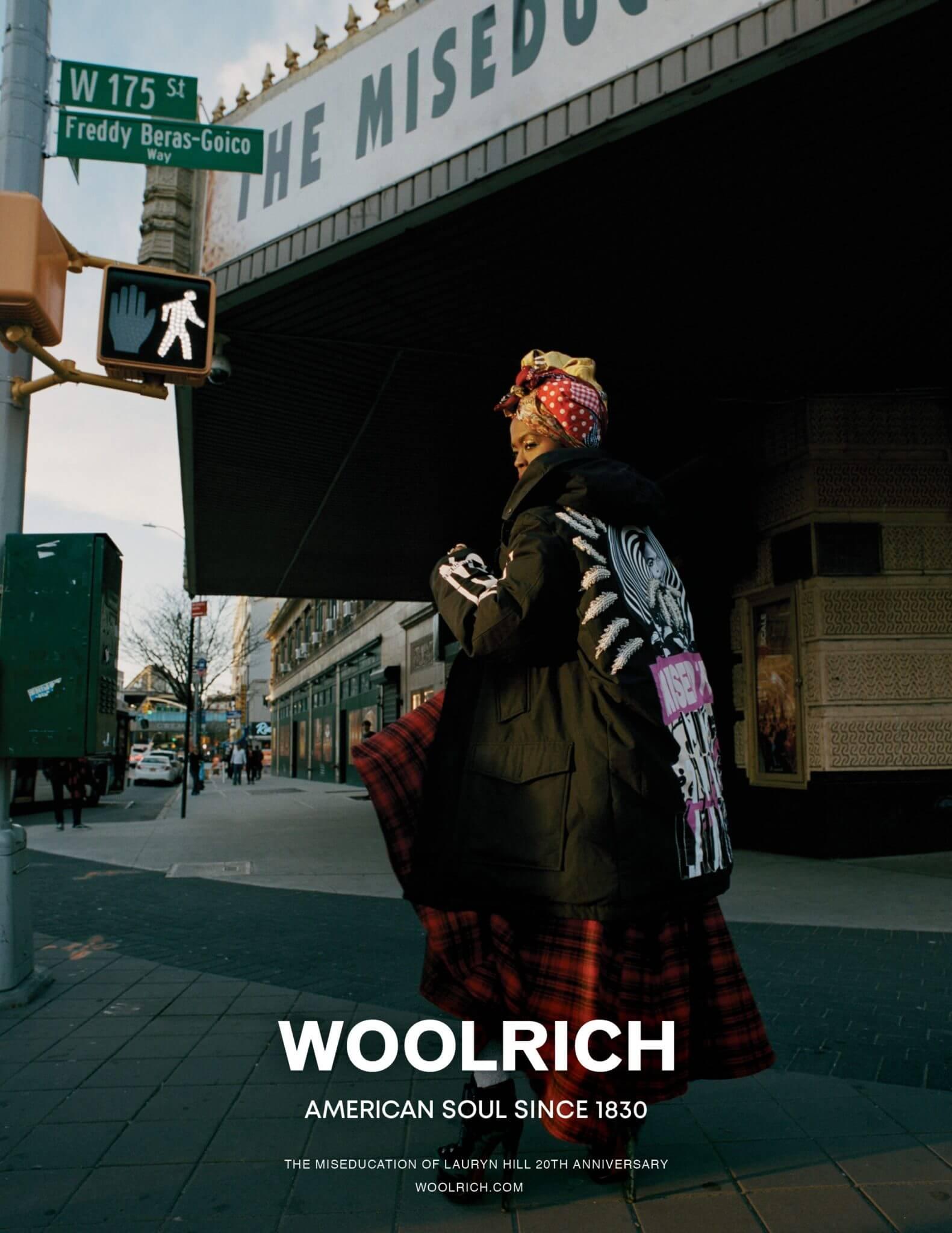 Lauryn Hill x Woolrich / Fall/Winter 2018. Fotografía: Jack Davison/Woolrich