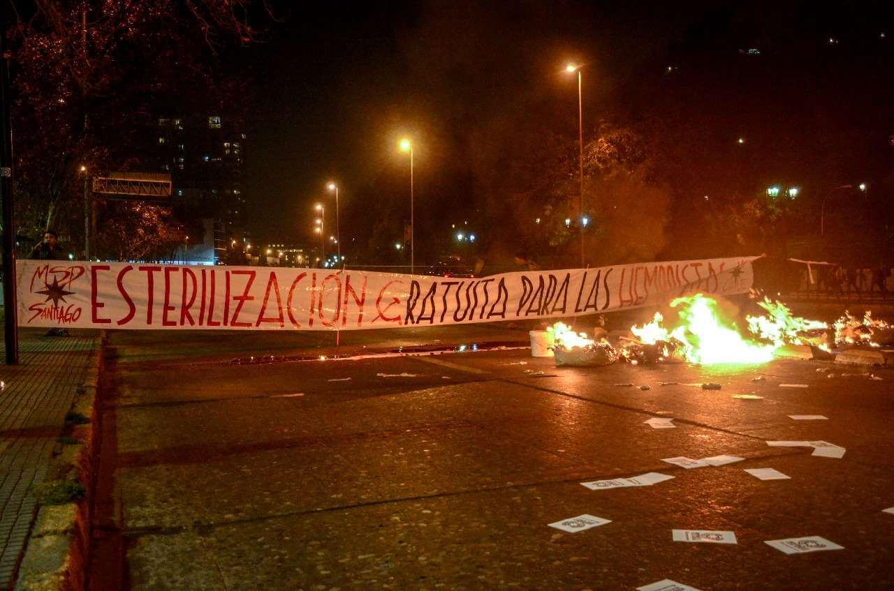 """Radicales anti-aborto chilenos usan sangre y vísceras para pedir """"esterilización"""" de las """"hembristas"""""""
