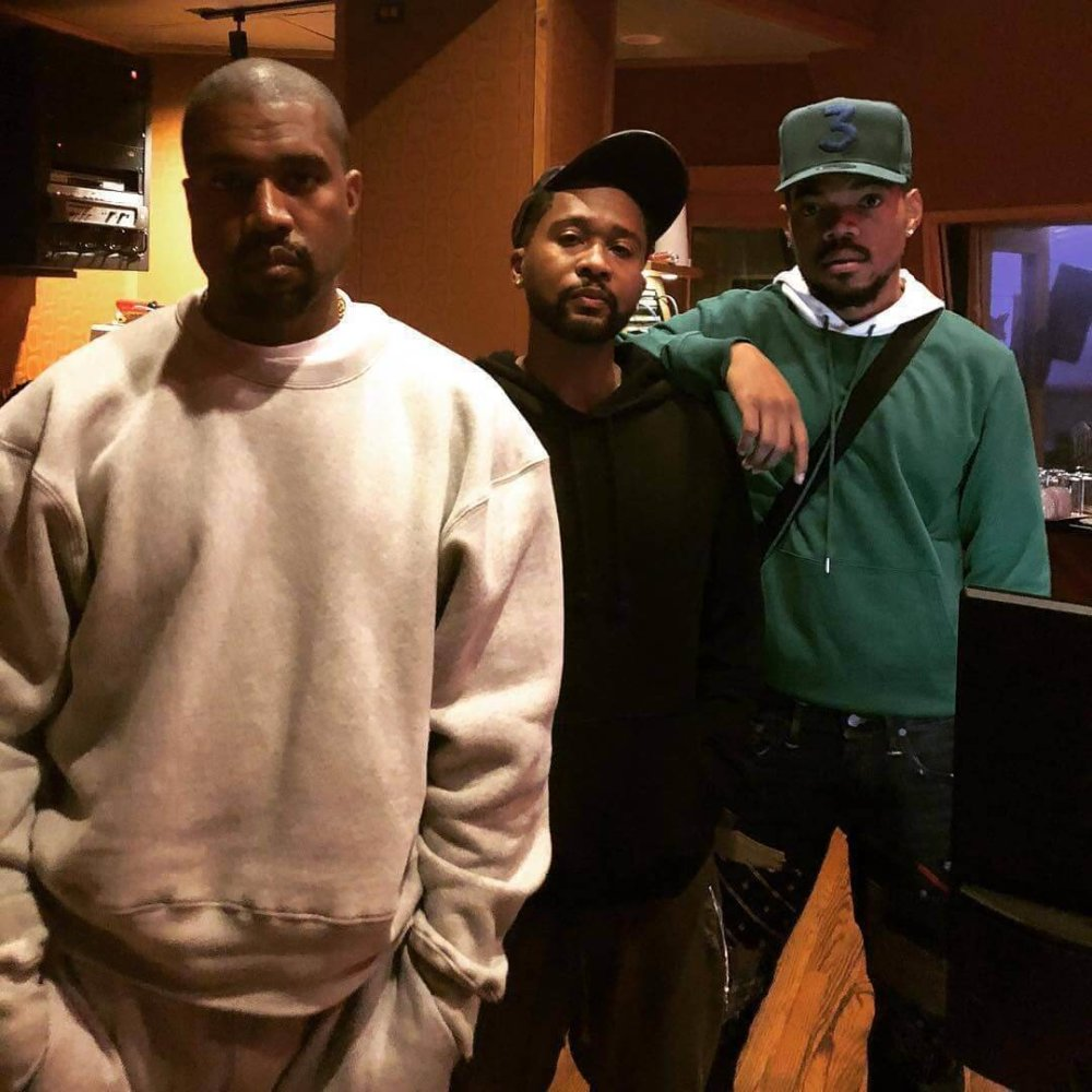 Kanye West con Zaitoven y Chance The Rapper en Chicago.. Imagen: Instagram