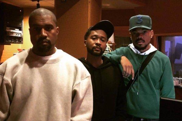 Kanye West con Zaitoven y Chance The Rapper en Chicago.. Imagen: Instagram