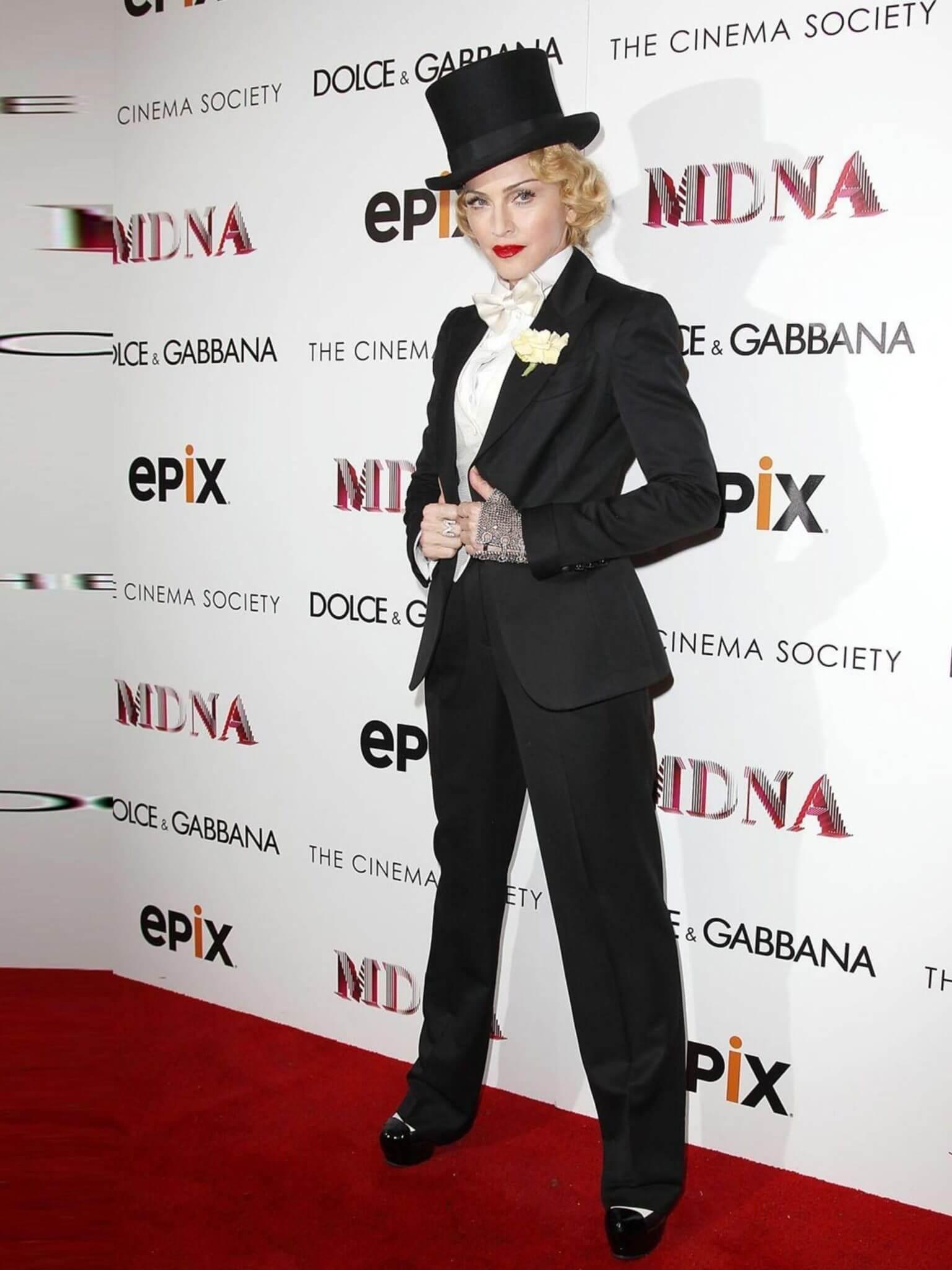 "Madonna en la premiere de ""Madonna: The MDNA Tour"". Fotografía: Kevin Mazur/WireImage"