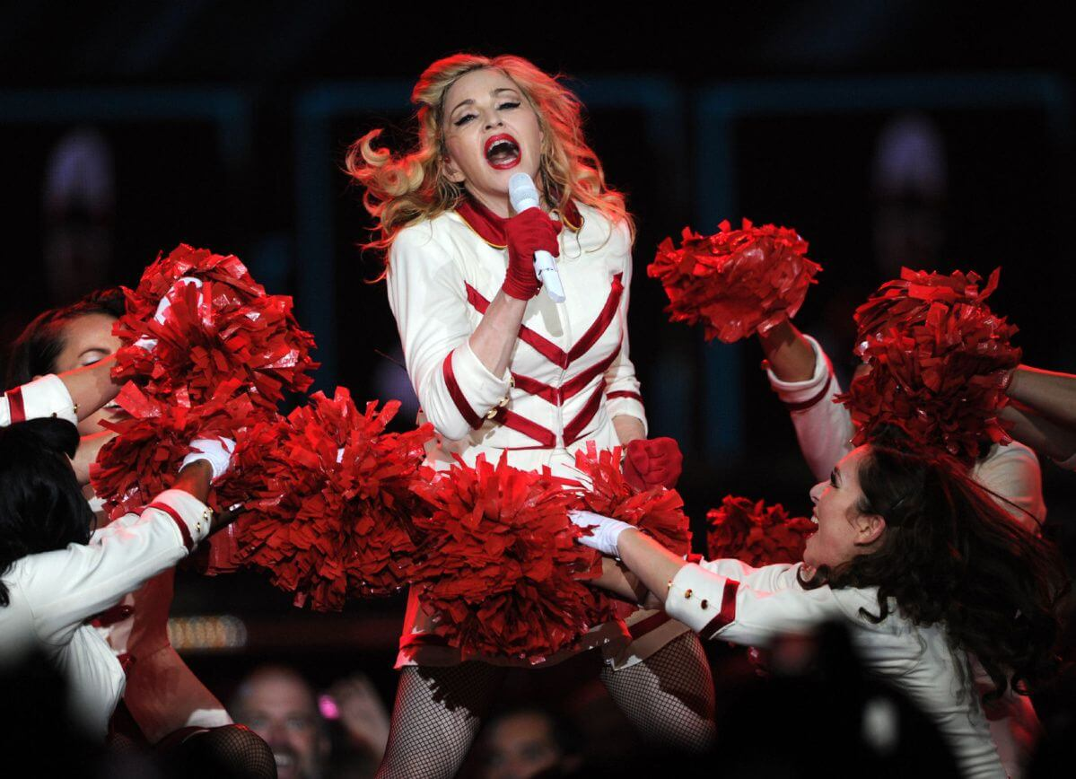 Madonna en el MDNA Tour de 2012. Fotografía: Getty Images