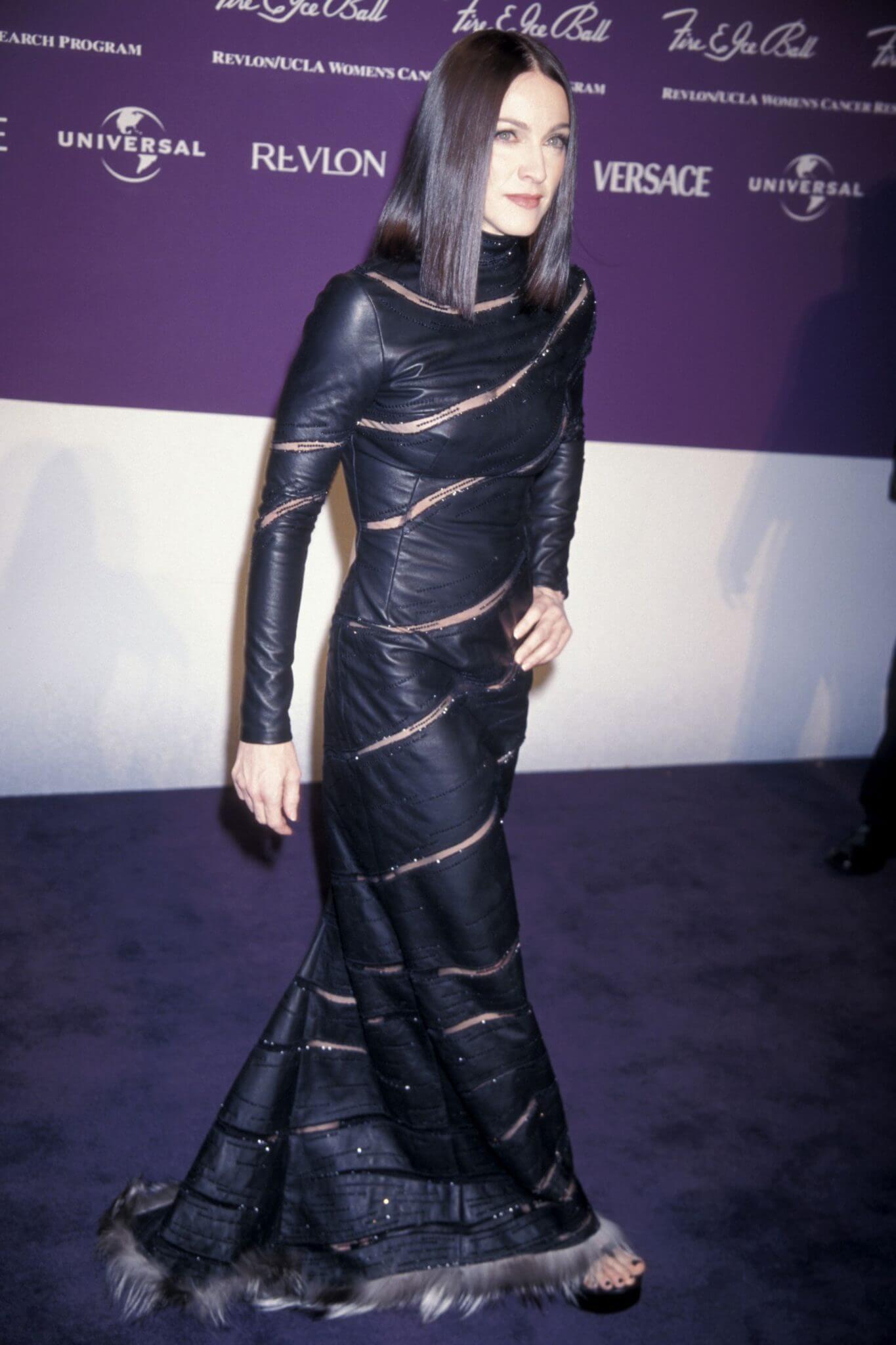 Madonna en el Fire & Ice Ball de 1998. Fotografía: Getty Images