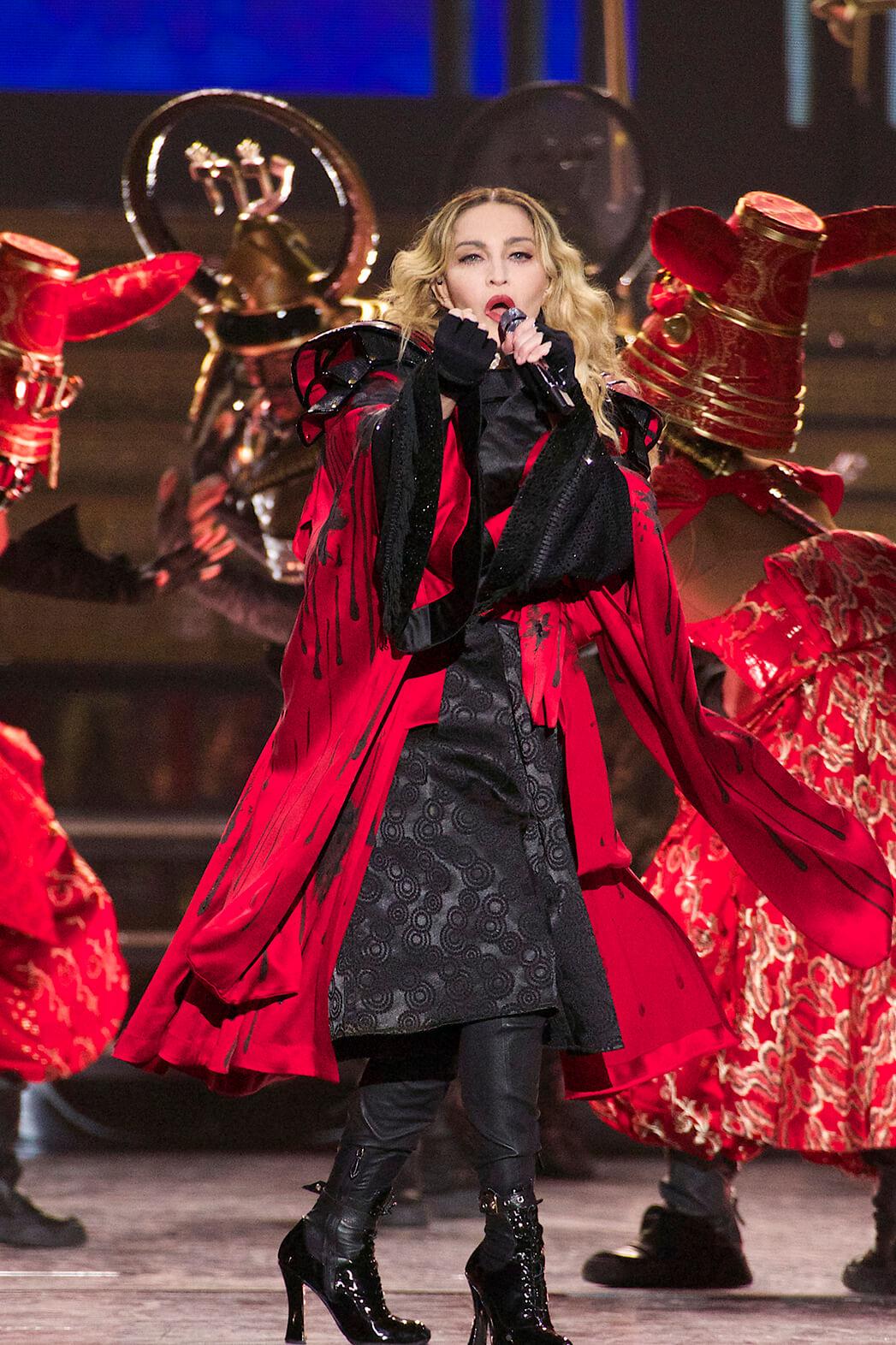 Madonna en el Rebel Heart Tour de 2016. Fotografía: Getty Images