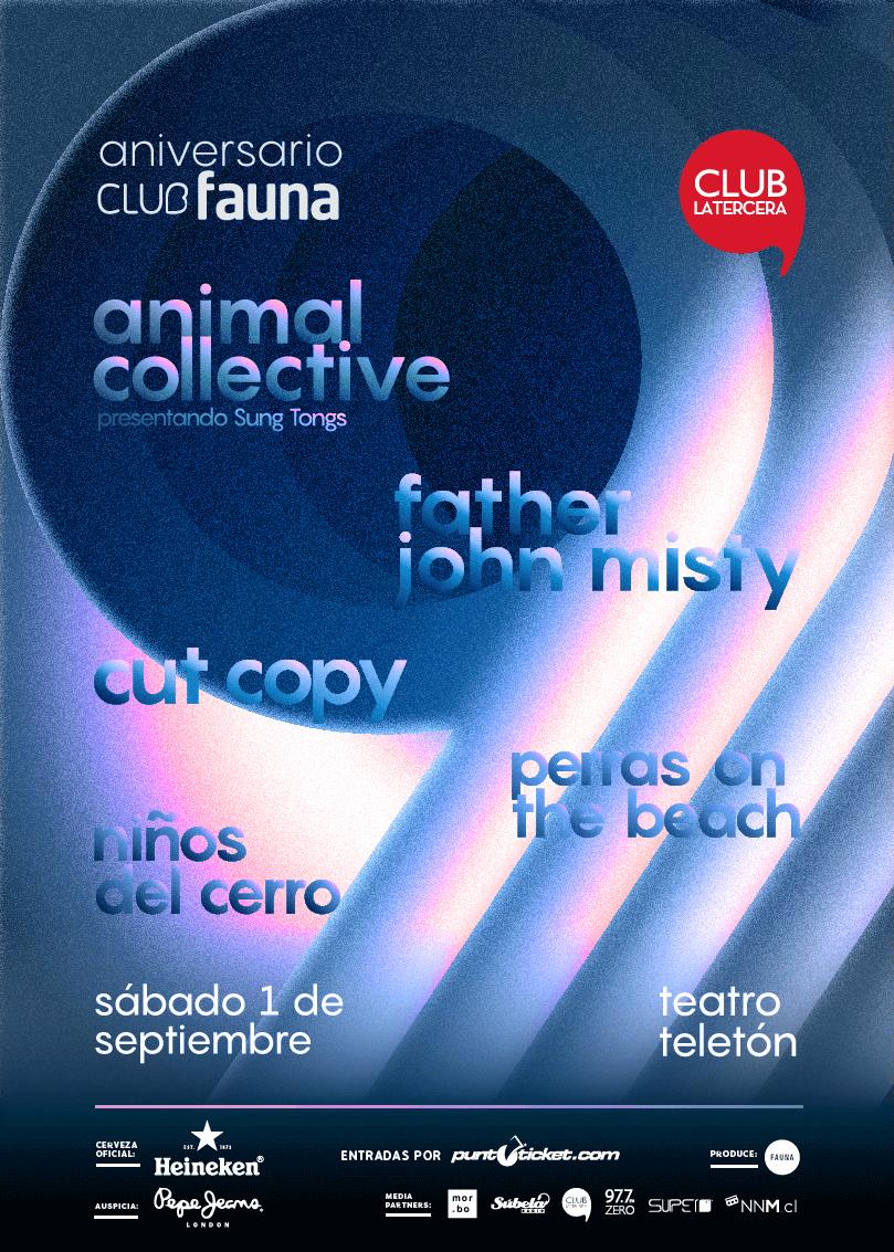 Afiche oficial Club Fauna Aniversario. Imagen: Fauna Producciones