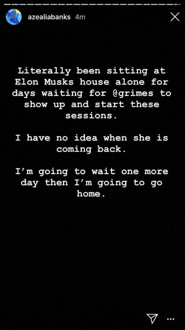 El mensaje publicado por Azealia en su Instagram. Imagen: Azealia Banks/Instagram
