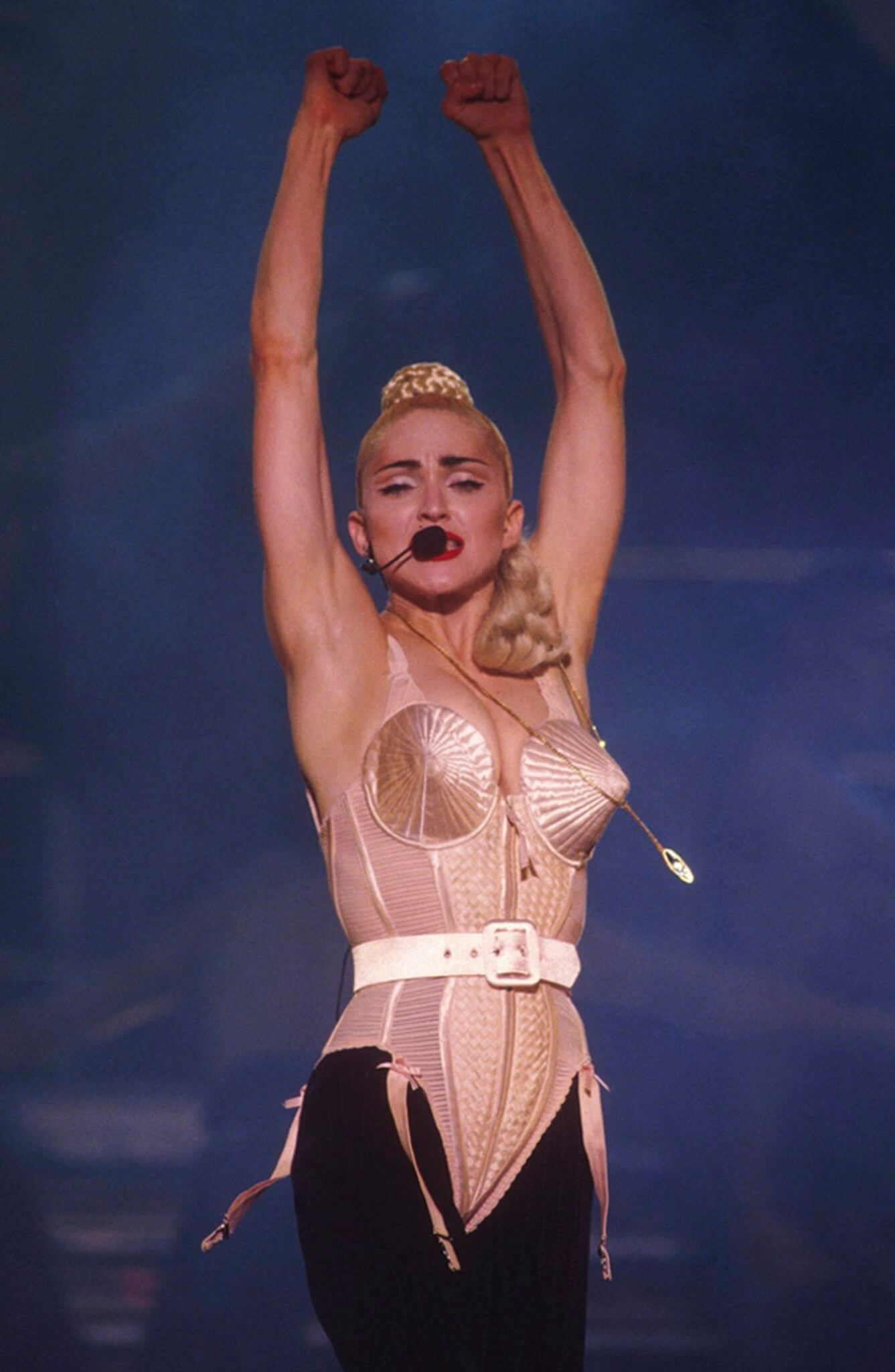 Madonna en su Blonde Ambition Tour de 1990. Fotografía: Archive/Getty
