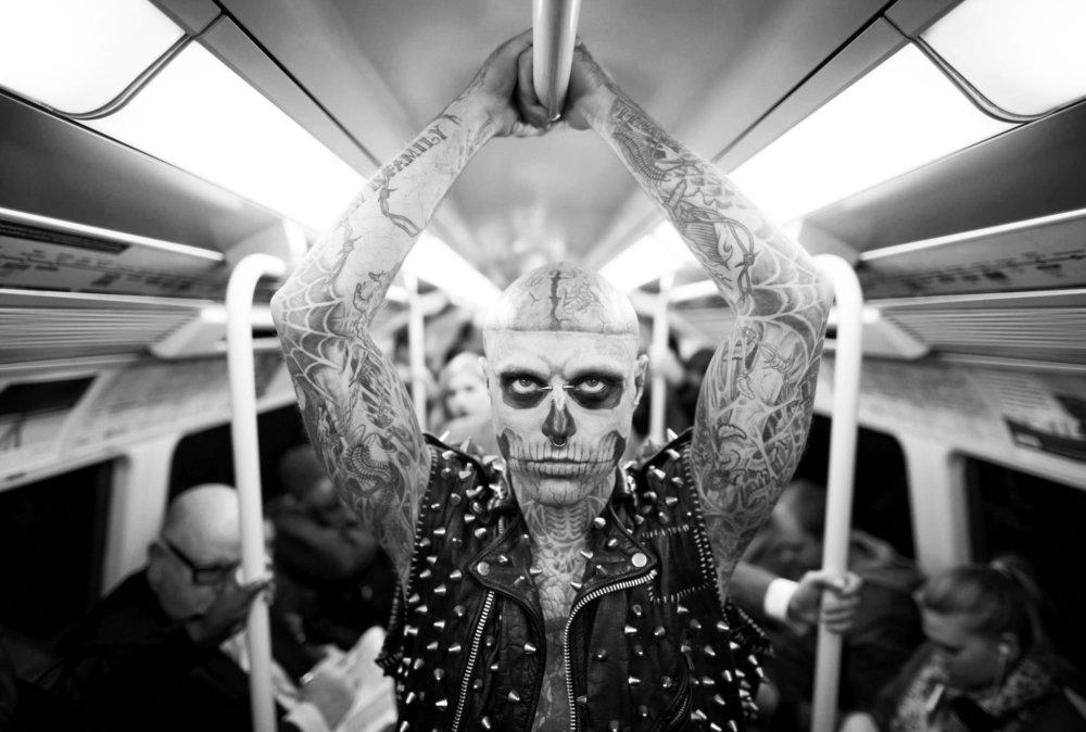 Rick Genest, aka Zombie Boy. Fotografía: Bongo