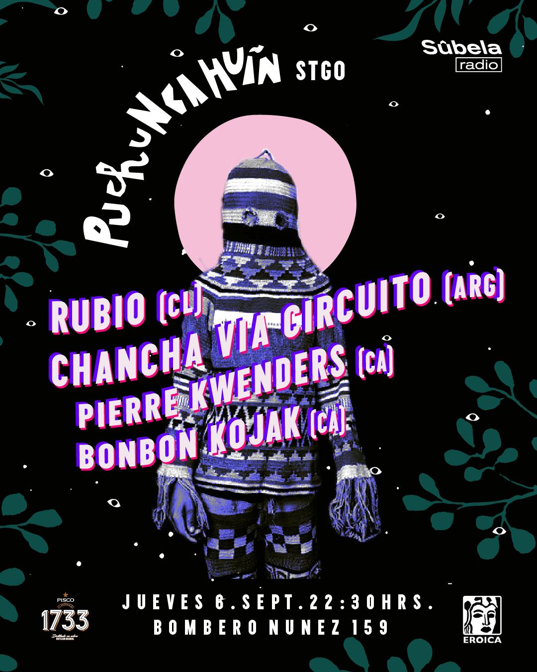 Poster oficial del Festival Puchuncahuín Ciclo Urbano.