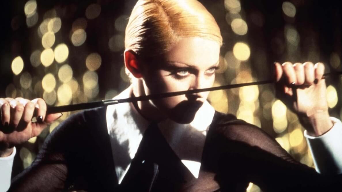 """Madonna en su video """"Erotica""""."""