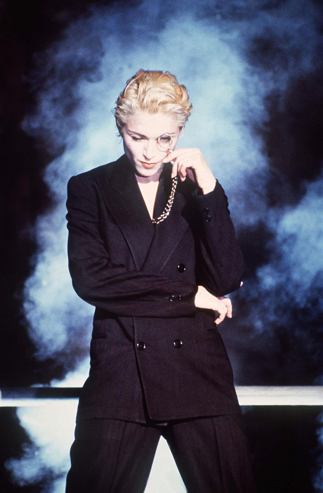 "Madonna en el video ""Express Yourself""."