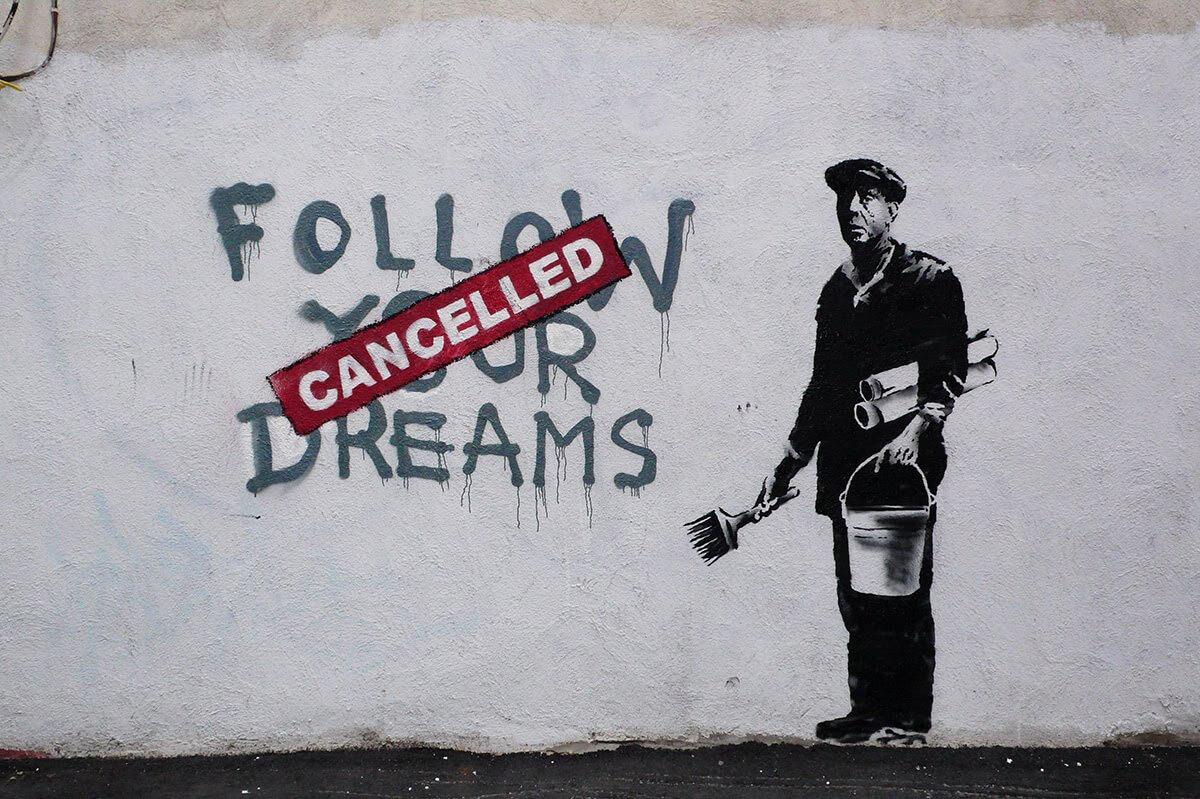 """Banksy acaba de enterarse de que tiene una exposición en Rusia:  """"¿Qué demonios es esto?"""""""