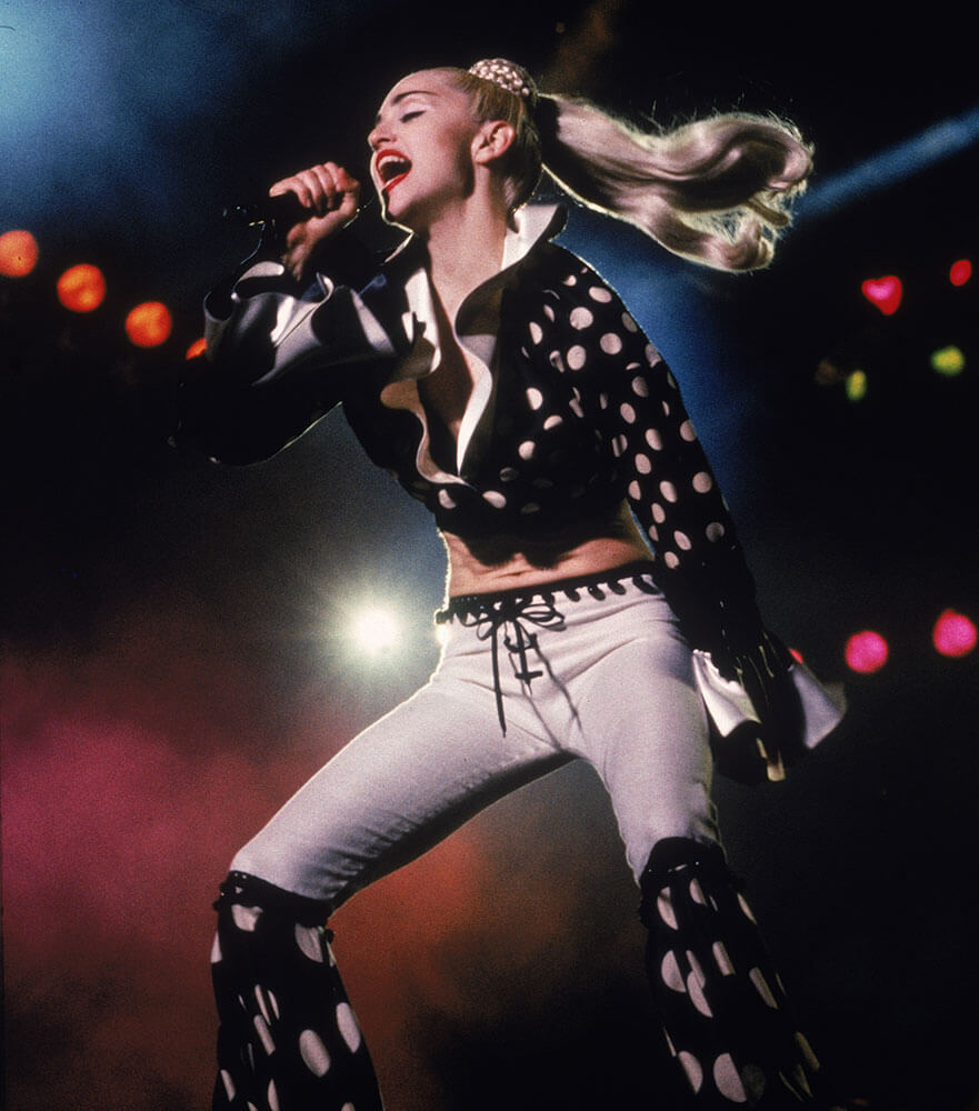 Madonna en el Blond Ambition tour de 1990. Fotografía: Getty/Archivo