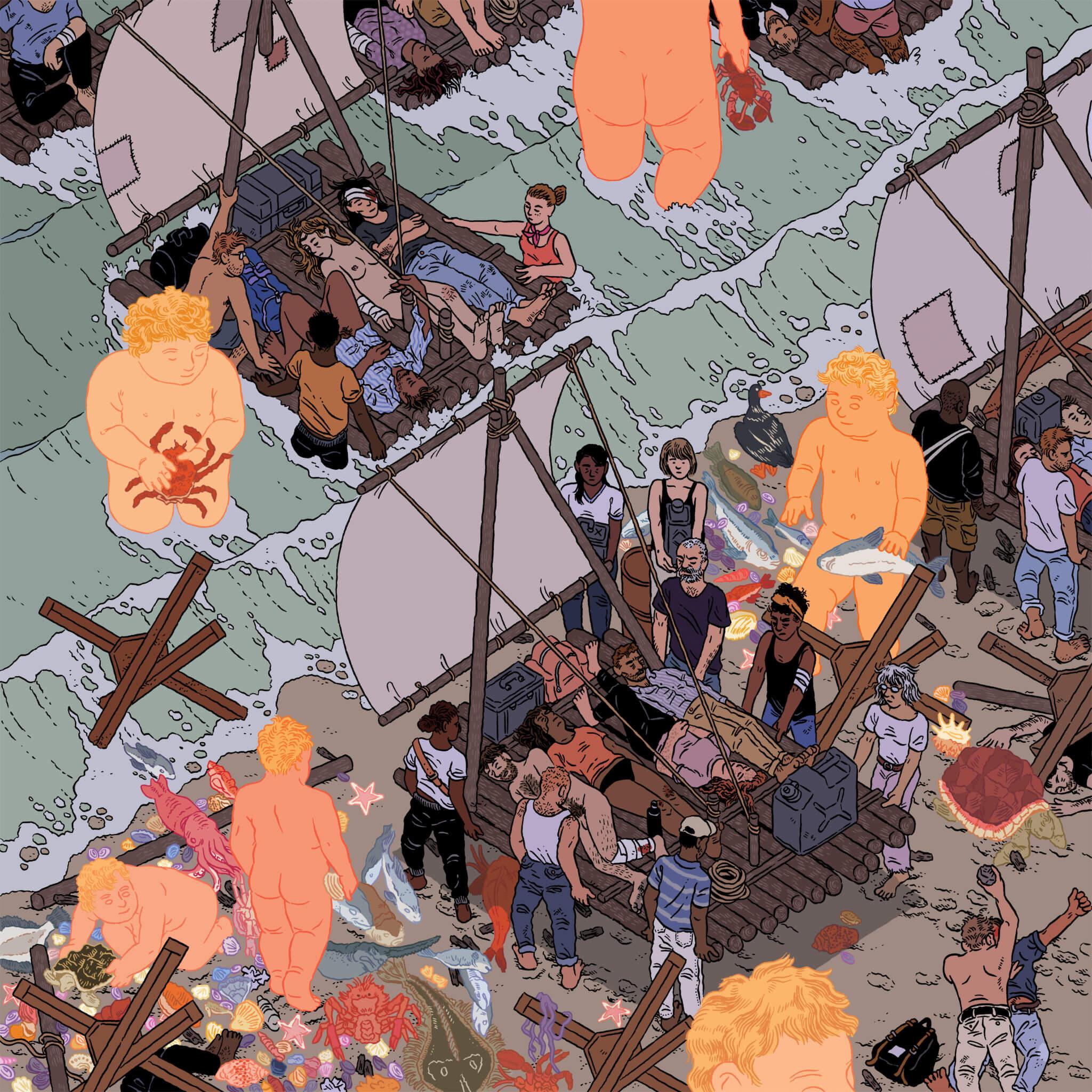 Boats. Ilustración: Ilya Milstein
