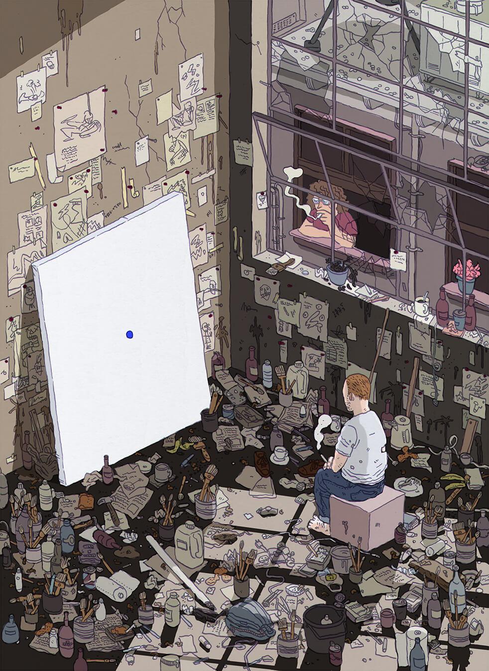 Minimalist. Ilustración: Ilya Milstein