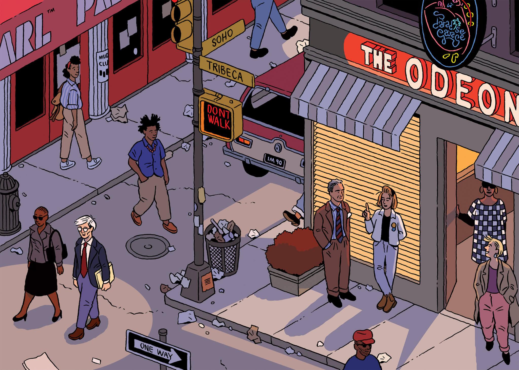 NYC. Ilustración: Ilya Milstein