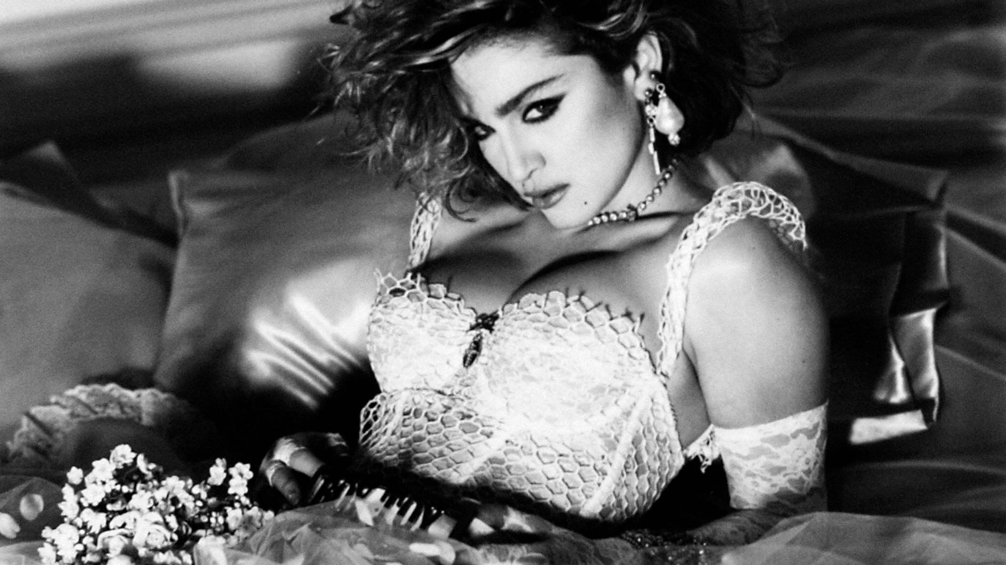 "Portada del disco ""Like a Virgin"" de Madonna."