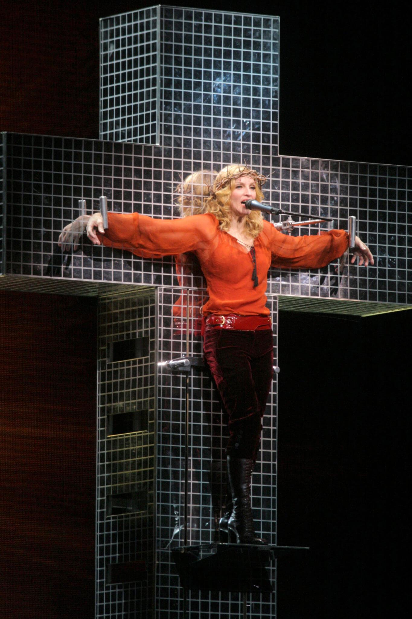 Madonna en su tour Confessions del año 2006. Fotografía: Giovanni Canitano/REX