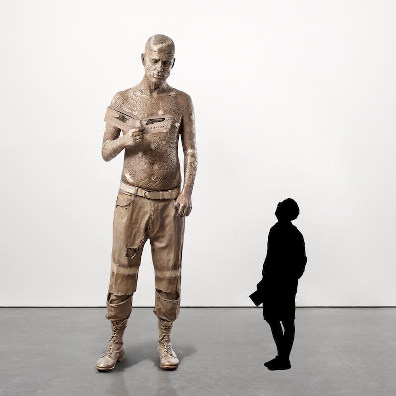 Una muestra de cómo se verá la escultura de Zombie Boy en el Museo d Ciencias de Londres. Imagen: Marc Quinn Studio