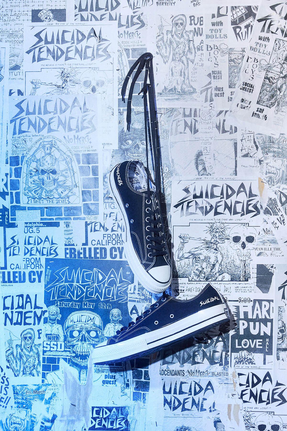 Suicidal tendencies x Converse. Fotografía: Converse
