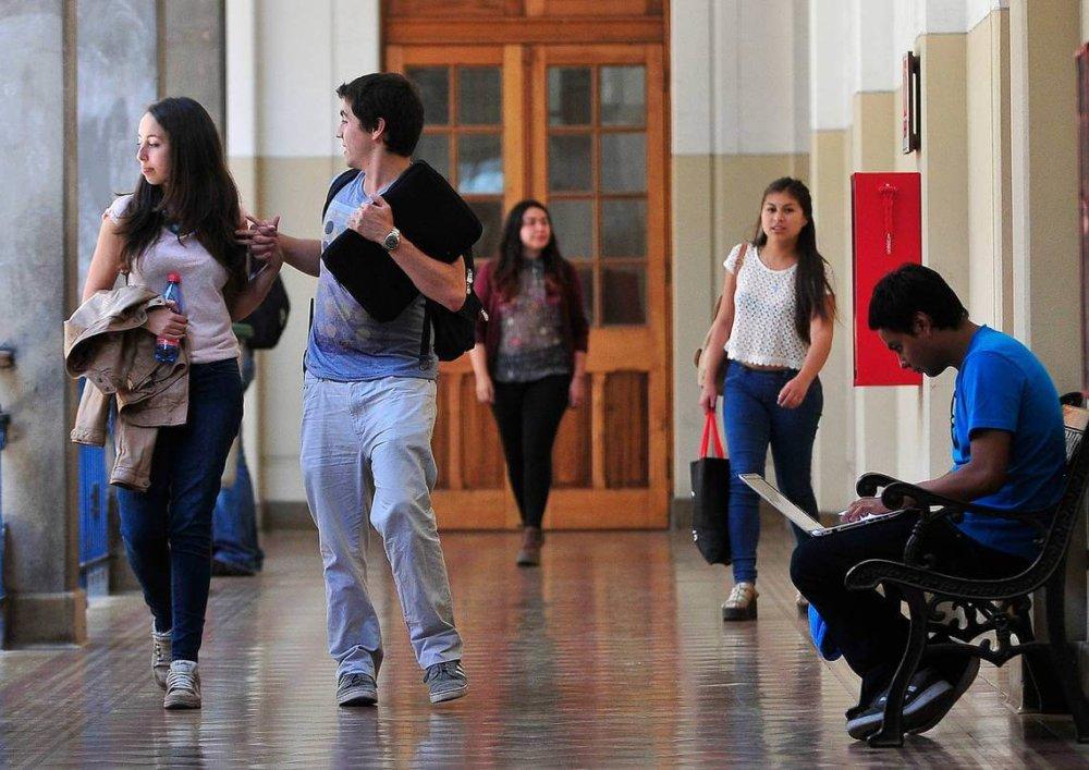 Estudiantes universitarios. Fotografía: Agencia Uno