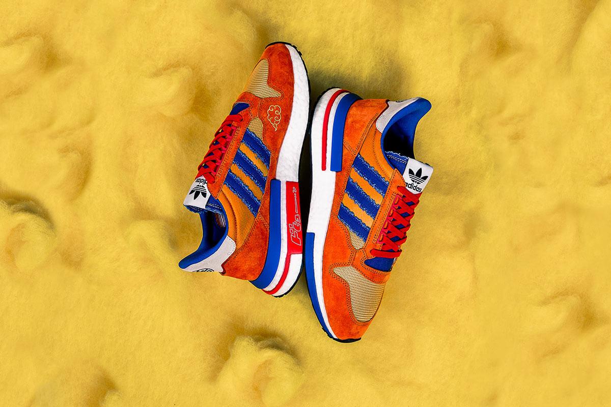 """Dragon Ball Z x adidas   ZX 500 RM """"Goku"""". Fotografía: adidas"""